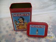 -- BOITE ETUI A TABAC CIGARETTE PUBLICITE RHUM NEGRITA metal box TOBACCO