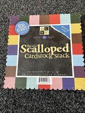 "The Mini Scalloped Cardstock Stack 8""x 8"""