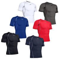 Under Armour Mens Compression Shirt Short Sleeve BaseLayer Top HeatGear T Shirts
