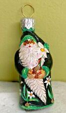 Patricia Breen Narcissus Black Santa Hand Blown Glass 2003 #2336 Xmas Ornament