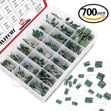 Hilitchi 700pcs 24 Value Mylar Polyester Film Capacitor Assortment Kit 022nf