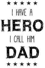 Hero Dad Fathers Day Rubber Stamp