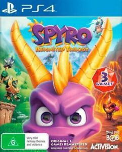 Spyro Reignited Trilogy PS4 VERY GOOD FREE POST + TRACKING !
