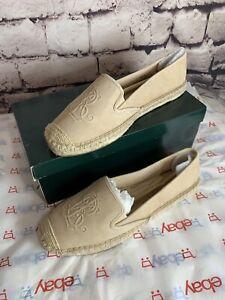 Ralph Lauren Destini Suede Espadrille Womens  Slip On Shoes Size 9