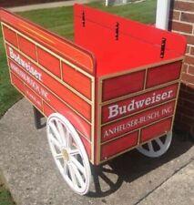 Budweiser Beer Display Cart Advertisement Promotional Display Red Wagon