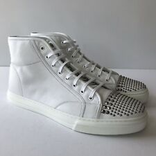 W-1047197 New Gucci White Leather Sneakers W Studs Marked Size 11.5 US-12.5