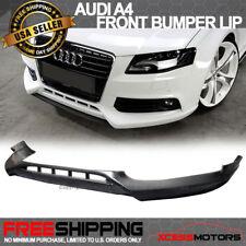Fits 09-12 Audi A4 B8 Poly-Urethane Front Bumper Lip Spoiler