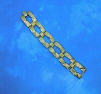 Vintage Sarah Coventry GAD-A-BOUT 1964 Bracelet Gold Tone Links 7.25 Inches