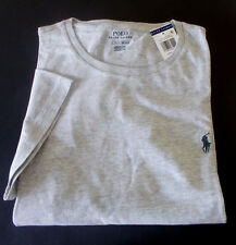 New POLO RALPH LAUREN Mens CREW NECK Gray T-SHIRTS Embroidered PONY size LARGE L