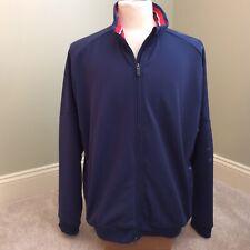 Bobby Jones Golf X-H20 Full Zipper Jacket Mens  Large Blue With Red/White