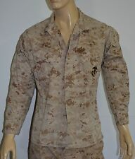 Pre-Owned US MARINE CORPS Camo Field Jacket sz Medium Short -DESERT MARPAT