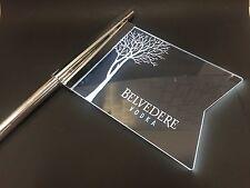 Belvedere Vodka LED Fahne Acryl für Flasche Leuchtreklame Deko Silvester NEU OVP