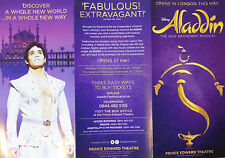 ALADDIN – PRINCE EDWARD THEATRE, LONDON – OPENS MAY 2016 - PRE-SHOW FLYER (A)