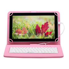 "IRULU Tablet PC 10.1"" Android 6.0 Marshmallow WIFI 8GB/1GB BT w/ Pink Keyboard"