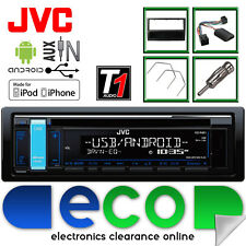 Vauxhall Agila A JVC Radio CD MP3 USB Car Stereo & Steering BLACK Fitting Kit