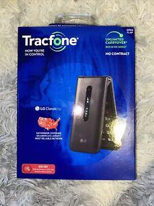 New in Box TRACFONE - TracFone LG Classic Flip 8GB Prepaid - Gray