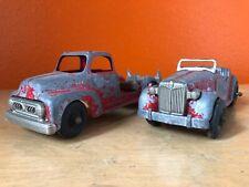 Vintage Hubley Kiddie Toy Wrecker Truck Roadster car Log Hauler Die cast 452 432