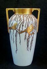 Antique Heinrich & Co Selb Bavariahand painted porcelain vase 1916, 9.75 inch