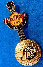 New listing Online Utah Jazz Nba Basketball 3D Ball Logo Guitar 2013 Hard Rock Cafe Pin Le