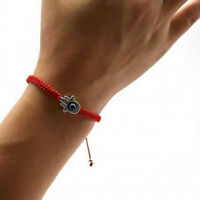 New Good Luck Kabbalah Bracelet Hamsa Hand of God Evil Eye Adjustable Red String