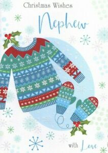 Nephew Christmas Card ~ Christmas Jumper By Out of The Blue ~ Free P&P