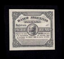 F.C. ARGENTINA , 1/2 REAL 1871/73 , S/C ( UNC ) , S1491 .
