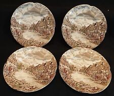 Johnson Bros. Old English Countryside 4 Bread Plates -Multi-Color
