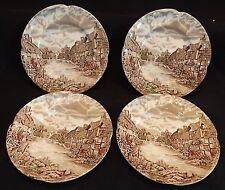 Johnson Bros. Old English Countryside 4 Bread Plates -Multi-Color