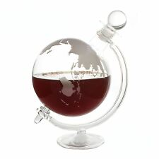 Mixology Globe Whiskey Decanter Glass Brandy Spirits With Cradle 1l
