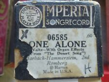 Imperial 88 note Player piano roll (H) 06385 One Alone with organ effects