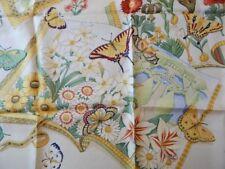 Beautiful Salvatore Ferragamo Scarf Butterflies & Flowers 100% Silk Made Italy