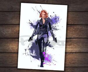 Natasha Black Widow Avengers A4 art print SIGNED by ARTIST