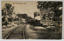 Palmyra Missouri Rock Cut Train Railroad 1909 Phila to Armington MT Postcard A18