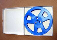 """7"""" x 1/4"""" plastic tape reel...BLUE  (1) with brand new hinged box"""