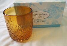 Gorham Kathy Ireland Home Coronado Amber Dof Glass 4 piece set $67