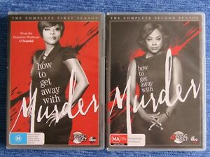 HOW TO GET AWAY WITH MURDER COMPLETE FIRST & SECOND SEASON DVD TV 1 2 VIOLA DAVI