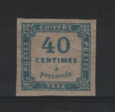 """FRANCE STAMP TIMBRE TAXE 7 """" CHIFFRE TAXE 40c BLEU """" NEUF x  TB SIGNE  R532"""
