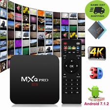 MXQ Pro 4K Ultra Android 7.1 Quad-core Smart TV Streamer TV Box 1080P HDMI WIFI