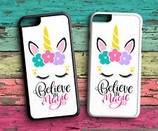 Unicorns Believe In Magic Phone Case Cover Iphone 4 4S 5C 5S SE 6 6S 7 8 X PLUS