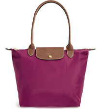 Longchamp Le Pliage Medium SML Nylon Shoulder Tote 2605089 Dahlia Auth
