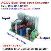 LM317-LD317 AC-DC Converter 5V 9V 12V 24V Volt Linear Regulator Mini Buck Module