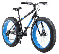 FAT TIRE BIKE Mens 26 Mongoose Dolomite 7 Speed Mountain Bicycle Blue *NEW*