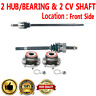 2 Front CV Axle Shafts + 2 Wheel Hub Bearing Assembly for GRAND CHEROKEE
