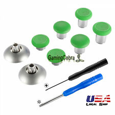 Green Metal Magnetic Thumbsticks With Screwdrivers For Xbox One Elite PS 4 Slim