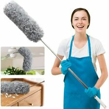 Microfiber Duster For Cleaning With Telescoping Extension Pole, Extra Long 100