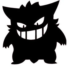 POKEMON GO GENGAR Legendary Vinyl Decal Sticker Car Bumper Window Black
