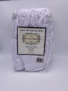 New Gold Crown Collection Luxury Brushed Microfiber Bed Skirt QUEEN / KING White