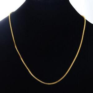 1 Herren Damen Vergoldet Edelstahl Venezianerkette Halskette Collier 51.7cm!