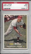 1957 TOPPS #46 BOB MILLER PSA 9 MINT PHILLIES ONLY 1 GRADED HIGHER