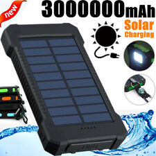 Solar Polymer External Battery 3000000mAh Power Bank 2USB Fast Charger for Phone